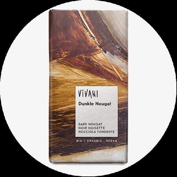 dunkle nougat schokolade vivani