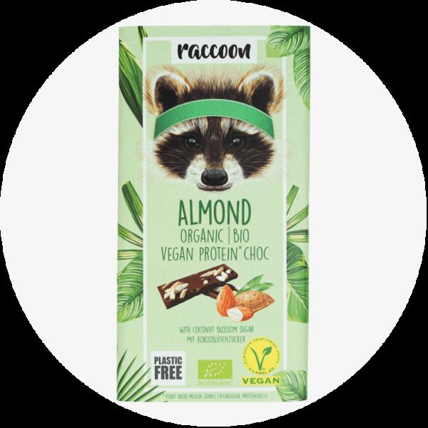 racoon almond schokolade