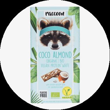 racoon coco almond schokolade