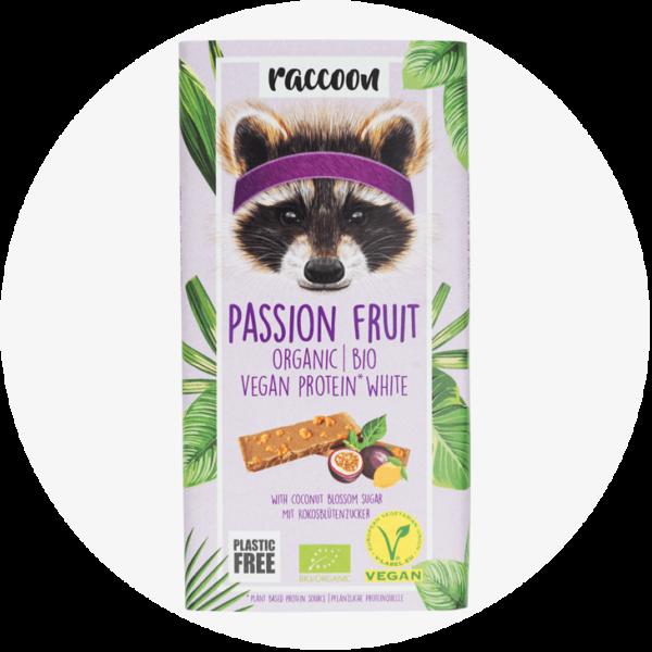 racoon passion fruit schokolade