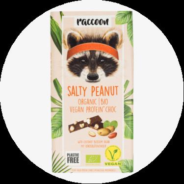 racoon salty peanut schokolade