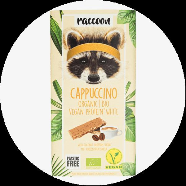 racoon cappuccino schokolade